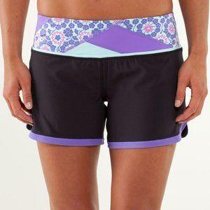 LULULEMON Black & Purple Groovy Run Short